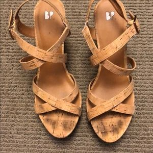 BP by Nordstrom's cork wedge
